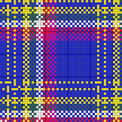yukon tartan charted for needlepoint or cross stitch by janet perry