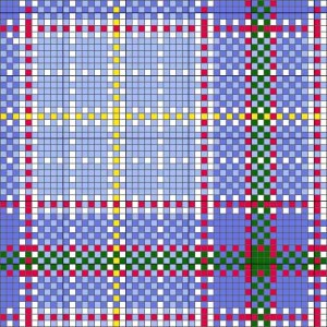 texas bluebonnet tartan charted for needlepoint or cross stitch