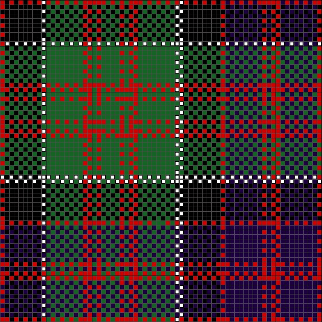Lenox Tartan Charted for Needlepoint or Cross Stitch
